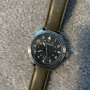Nautica watch in army green